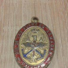 Militaria: ANTIGUA MEDALLA AL DIA DE LAS FUERZAS ARMADAS DE VALENCIA. Lote 65886494