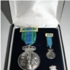 Militaria: ESTUPENDO ESTUCHE DE LUJO DE LA MEDALLA DE LA VIRGEN DEL PILAR (10 MICRAS) PIN+PASADOR+MEDALLA MINI. Lote 134163895