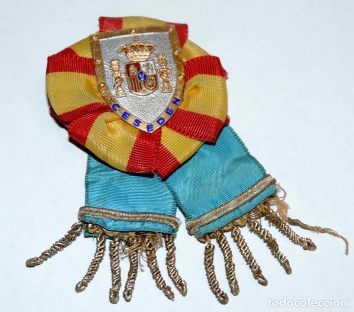 Militaria: Distintivo de Profesorado, CESEDEN, Estado Mayor de la Defensa, época de Juan Carlos I, todo tal com - Foto 2 - 66218002