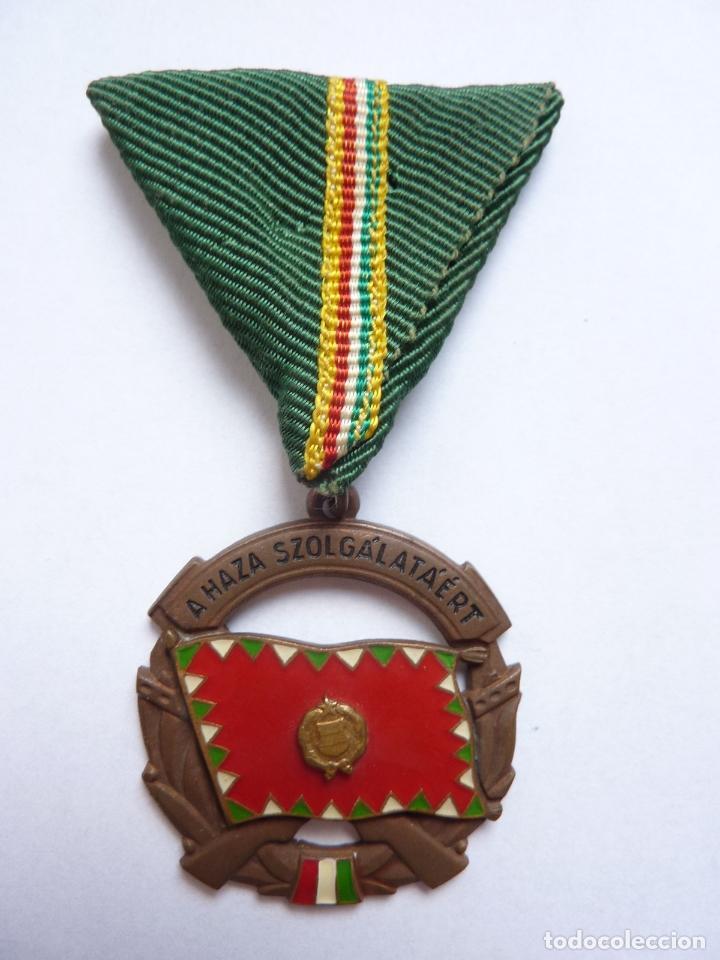 HUNGRÍA: MEDALLA AL MÉRITO MILITAR AL SERVICIO DEL PAÍS. TERCERA CLASE (CATEGORÍA DE BRONCE) (Militar - Medallas Extranjeras Originales)