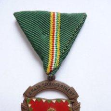 Militaria: HUNGRÍA: MEDALLA AL MÉRITO MILITAR AL SERVICIO DEL PAÍS. TERCERA CLASE (CATEGORÍA DE BRONCE). Lote 53419630