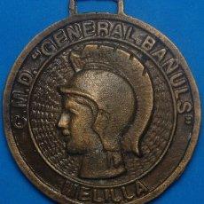 Militaria: MEDALLA DE BRONCE GENERAL BAÑULS. Lote 67702013