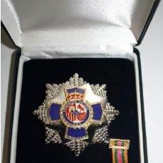 Militaria: ESTUPENDO ESTUCHE DE LUJO CON JUEGO COMPLETO PLACA 35 AÑOS DEDICACIÓN POLICIAL. Lote 161782465