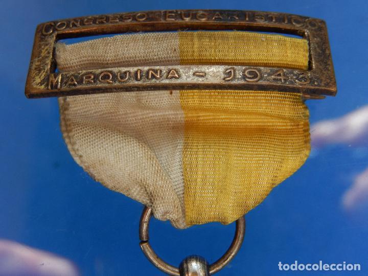 Militaria: Medalla Congreso Eucarístico. Marquina. 1943. Parece de Plata. - Foto 4 - 68008521