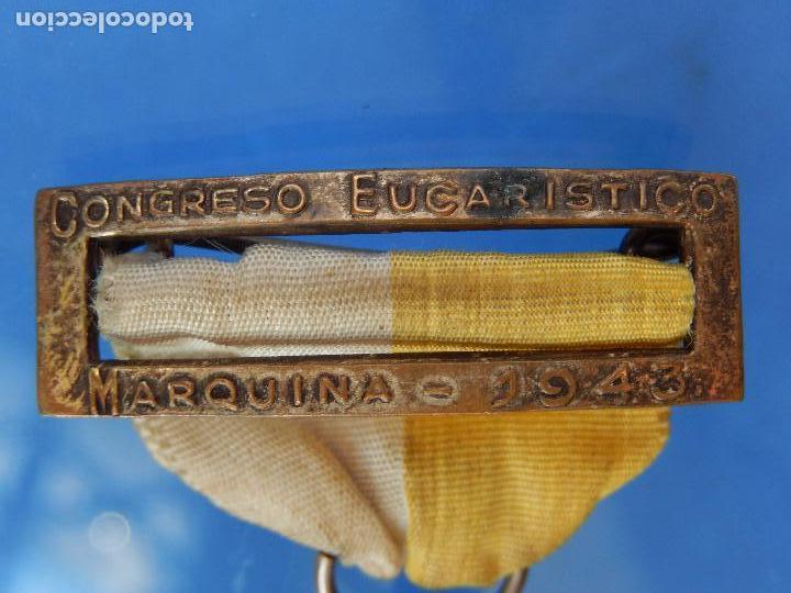 Militaria: Medalla Congreso Eucarístico. Marquina. 1943. Parece de Plata. - Foto 6 - 68008521