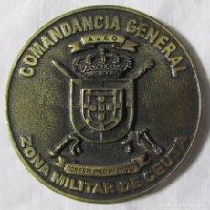 Militaria: MEDALLA BRONCE COMANDANCIA GENERAL ZONA MILITAR DE CEUTA CON ESTE PALO ME BASTO. Lote 68256129