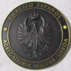 Militaria: MEDALLA BRONCE EJÉRCITO ESPAÑOL AGREGADURIA MILITAR LISBOA. Lote 68267173