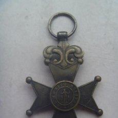 Militaria: GUERRA CARLISTA , ETC : MEDALLA CRUZ DE SAN FERNANDO DEL MERITO MILITAR SIGLO XIX . PLATA. Lote 68286389