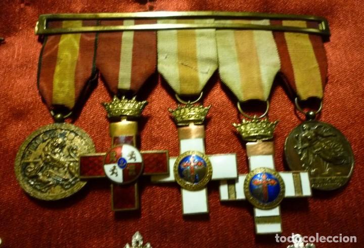 PASADOR DE GALA. MEDALLAS GUERRA CIVIL. FRANCO. FALANGE (Militar - Cintas de Medallas y Pasadores)