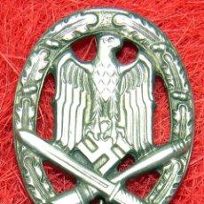 Militaria: HEER - ASALTO GENERAL. ALLGEMENIES STURMABZEICHEN - CATEGORIA PLATA. Lote 69277317