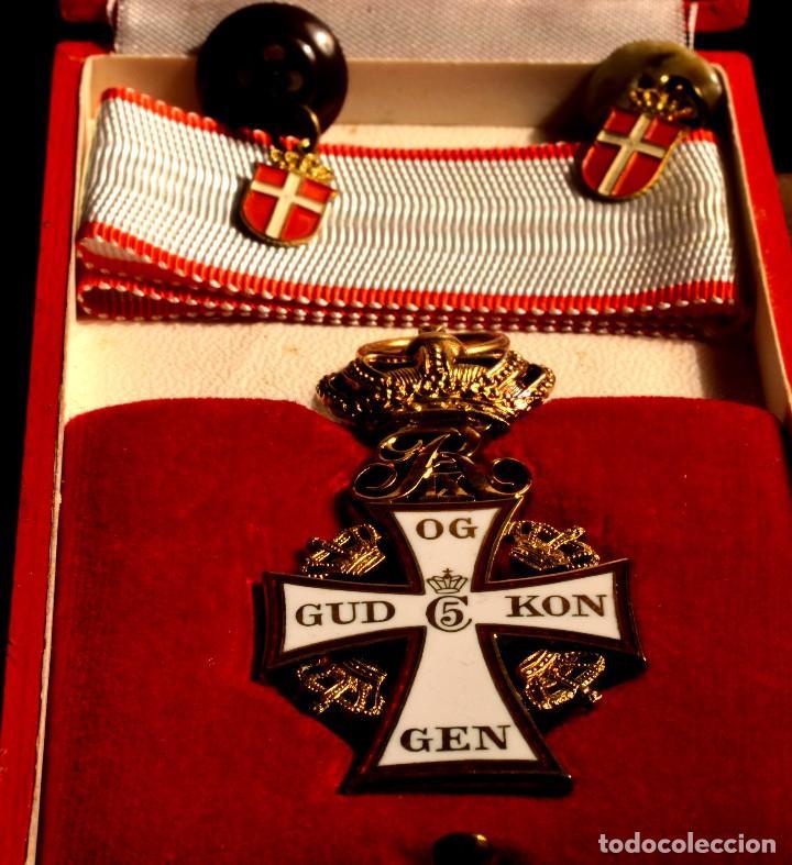 CRUZ DE LA ORDEN DE LA CRUZ DE DINAMARCA. DANNEBROG ORDEN DANNEBROG ORDENEN (Militar - Medallas Extranjeras Originales)