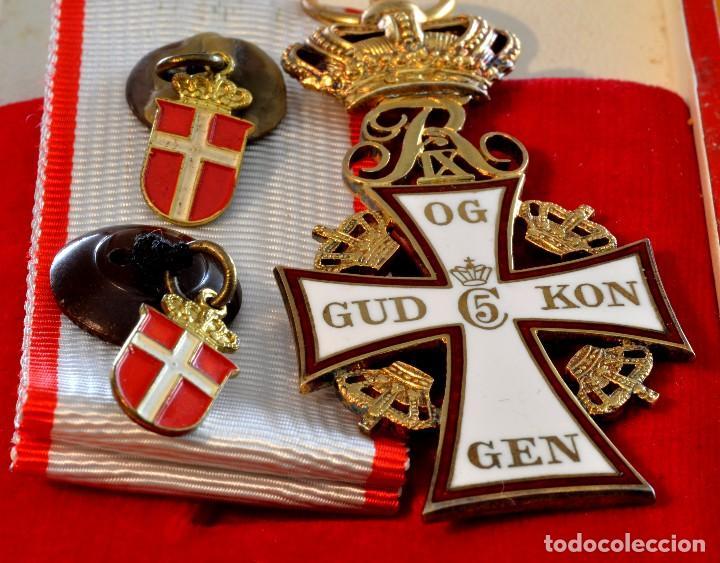 Militaria: CRUZ de la Orden de la Cruz de Dinamarca. Dannebrog Orden Dannebrog Ordenen - Foto 4 - 71630439