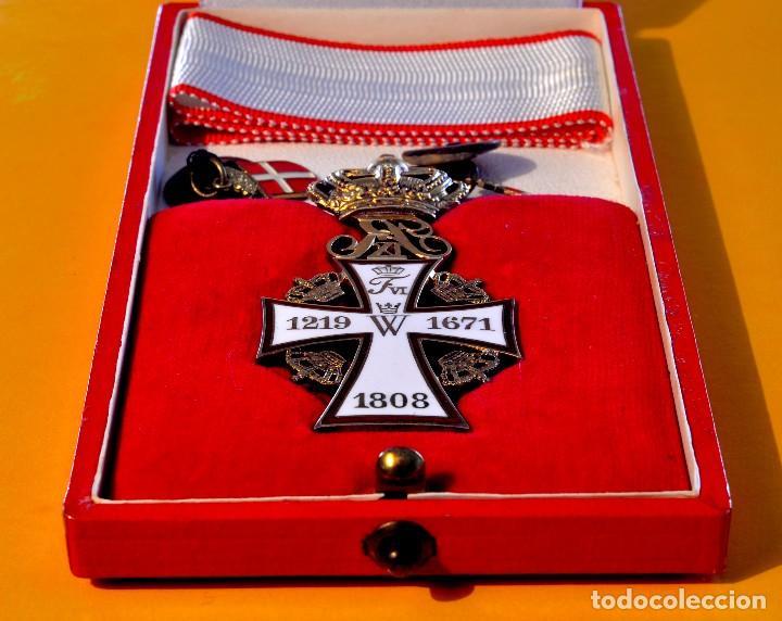Militaria: CRUZ de la Orden de la Cruz de Dinamarca. Dannebrog Orden Dannebrog Ordenen - Foto 5 - 71630439