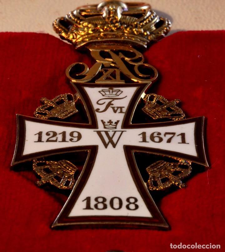 Militaria: CRUZ de la Orden de la Cruz de Dinamarca. Dannebrog Orden Dannebrog Ordenen - Foto 6 - 71630439