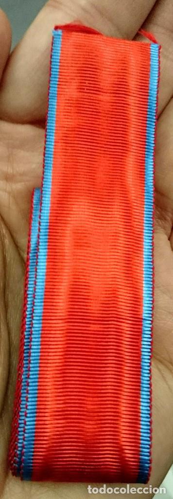 CINTA ANTIGUA MOARE SEDA MEDALLA CHIVA (Militar - Cintas de Medallas y Pasadores)