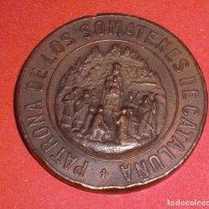Militaria: MEDALLA PATRONA DE LOS SOMATENES DE CATALUÑA ALFONSO XIII 10 ABRIL 1904. Lote 72169707
