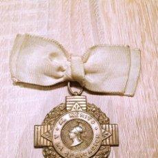 Militaria: ANTIGUA MEDALLA DEL MERITO A LA APLICACION REALIZADA SOBRE EL AÑO 1950 EN COLOR PLATA. Lote 72349095