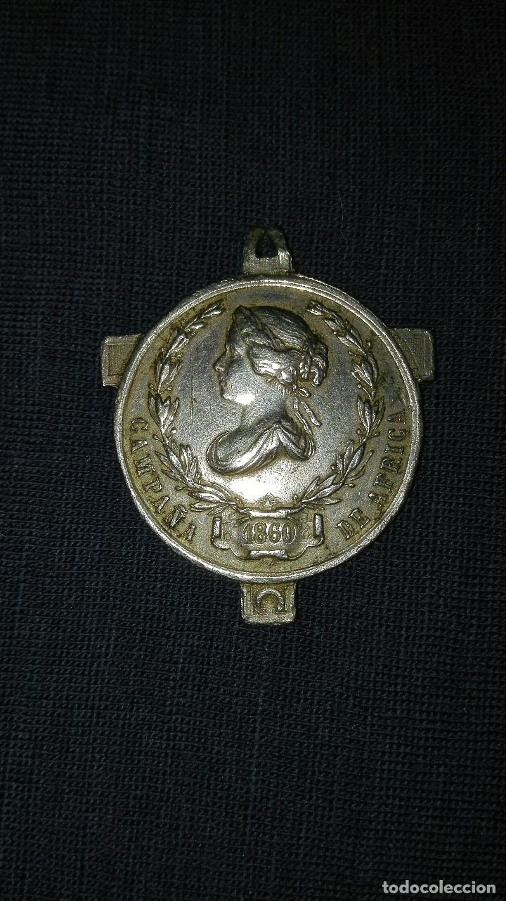 MEDALLA DE LA GUERRA DE AFRICA. 1860. (Militar - Medallas Españolas Originales )