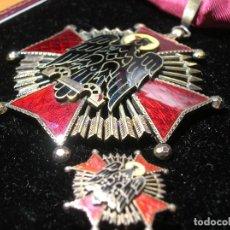 Militaria: EXCEPCIONAL ORDEN DE CISNEROS. 8,5 CM X 6,5 CM. PLATA CON MARCAJES. CASA VILLANUEVA Y LAISECA.. Lote 72705619