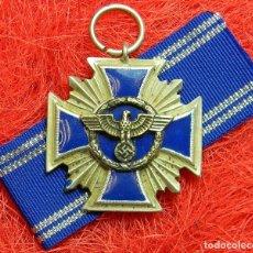 Militaria: NSDAP-DIENSTAUSZEICHNUNG 15 AÑOS - MEDALLA AL SERVICIO DEL NSDAP 15 AÑOS – 60 X 43 MM - CON CINTA. Lote 144724070