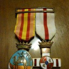 Militaria: PASADOR DE MEDALLAS. IFNI SÁHARA Y MERITO MILITAR PENSIONADA. Lote 74197351