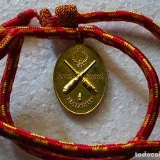 Militaria: MEDALLA CON CORDÓN DE ARTILLERÍA 1893 MADRID. SANTA BÁRBARA DE LOS ARTILLEROS. Lote 255936815