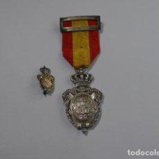 Militaria: * ANTIGUA MEDALLA DE PLATA DE LA PREVISION Y SU MINIATURA, 1908, ORIGINAL, ALFONSO XIII. ZX. Lote 75661103