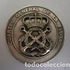 Militaria: BONITA MEDALLA CUARTEL GENERAL DE LA FLOTA. ESCUDO REAL DE MARINA. METAL MILITAR. CADIZ. Lote 75838755