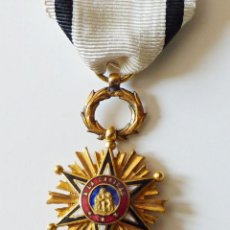Militaria: ORDEN CIVIL DE BENEFICIENCIA. CRUZ DE PECHO 3º CLASE. 1860. Lote 76535539
