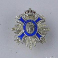 Militaria: MEDALLA MINIATURA DE SOLAPA DE LA GRAN CRUZ DEL MERITO CIVIL, REALIZADA EN PLATA, EPOCA JUAN CARLOS,. Lote 76937133