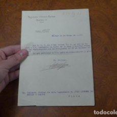 Militaria: * ANTIGUA CONCESION DE MEDALLA PLACA ORDEN SAN HERMENEGILDO, 1929. ORIGINAL. ZX. Lote 77207589
