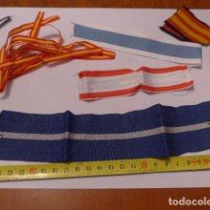 Militaria: * LOTE DE CINTAS DE MEDALLAS ESPAÑOLAS, VARIEDAD DE CINTA DE MEDALLA. ZX. Lote 77237525