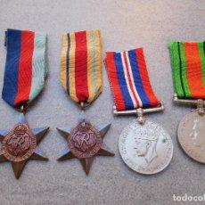Militaria: 4 MEDALLAS INGLESAS PARA TROPAS SUDÁFRICANAS 2ª GUERRA MUNDIAL. Lote 77239381