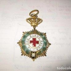 Militaria: MEDALLA ORDEN CRUZ ROJA IN HOC SIGNO SALUS MEDIDA HASTA LA CRUZ 7 CM. ANCHO 4,5 CM. 2 ANILLAS. Lote 77441849