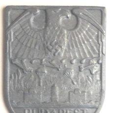 Militaria: PLACA BATALLA DE BUDAPEST, HUNGRÍA. ALEMANIA, PARACAIDISTAS. 2ª GUERRA MUNDIAL. 1944-1945. RÉPLICA . Lote 77475169