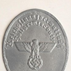 Militaria: PLACA ESCUDO GUARDIA FRONTERIZA. ALEMANIA. 2ª GUERRA MUNDIAL. 1939-1945. NUMERADA 9448. RÉPLICA . Lote 77475625