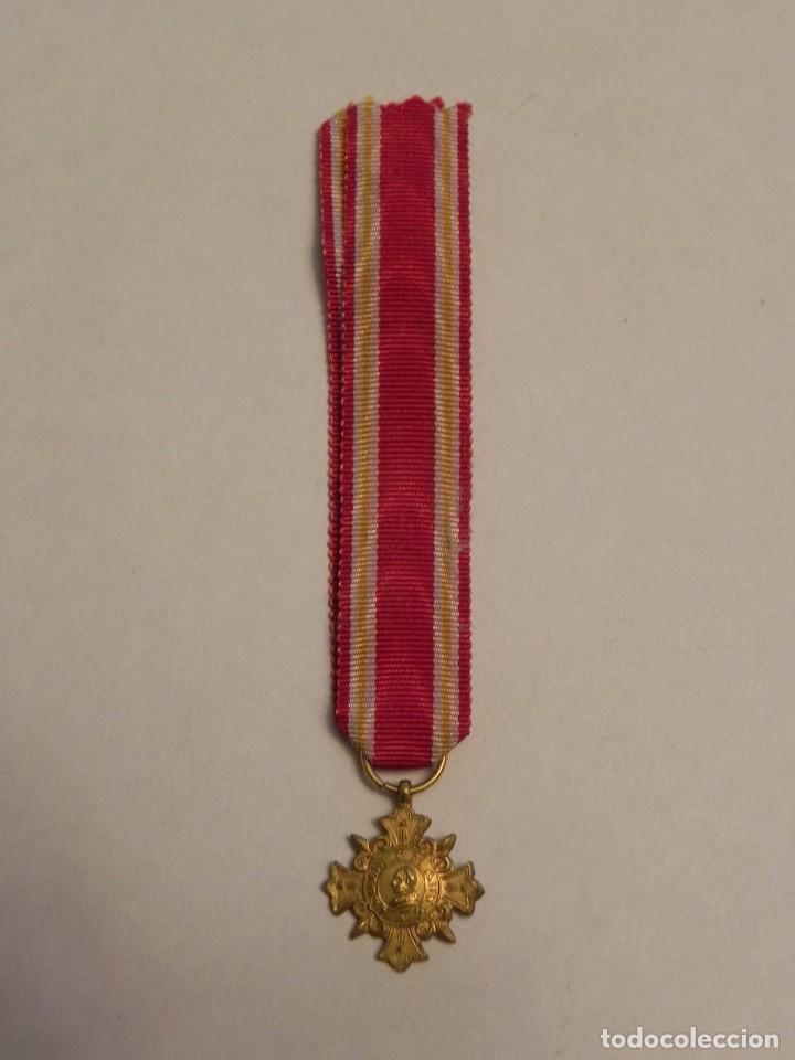 MINIATURA DE LA MEDALLA PRO ECCLESIA ET PONTIFICE (CRUZ DE HONOR), FUÉ INSTITUIDA POR LEÓN XIII EL 1 (Militar - Medallas Españolas Originales )