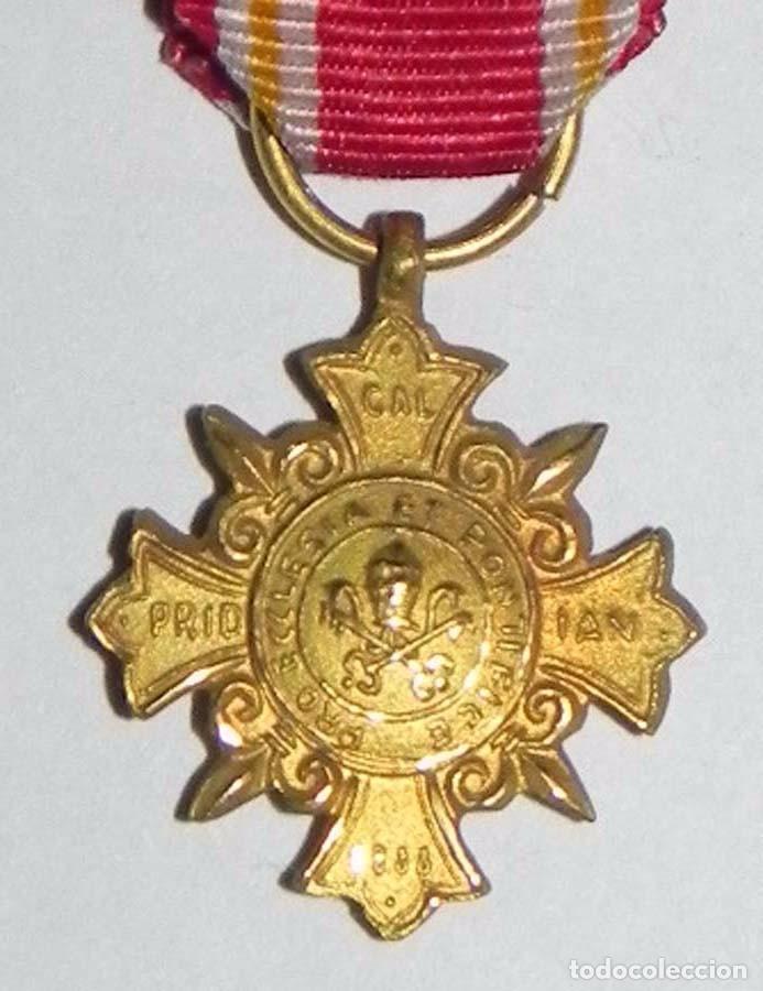 Militaria: Miniatura de la Medalla Pro Ecclesia et Pontifice (Cruz de Honor), Fué instituida por León XIII el 1 - Foto 4 - 78107177