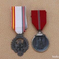 Militaria: * LOTE 2 MEDALLA DE LA DIVISION AZUL, ORIGINAL. ZX. Lote 78210909