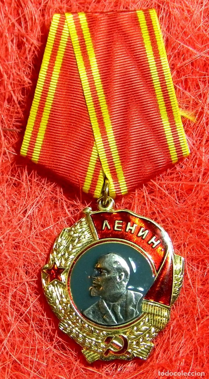 REPLICA MUSEUM - CCCP - URSS - UNIÓN SOVIETICA - ORDEN DE LENNIN - NUMERADA - ????? ?????? (Militar - Reproducciones y Réplicas de Medallas )
