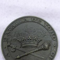 Militaria: ANTIGUA MEDALLA CONMEMORATIVA V CENTENARIO BATALLA DE TORO 1476 - 1976 - BRONCE - ORIGINAL -. Lote 235096030