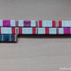 Militaria: PASADOR CON 9 CONDECORACIONES.. Lote 79798685