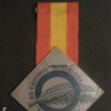 Militaria: DIVISION AZUL - MEDALLA DE CARTON CON CINTA- EX CAUTIVOS BARCELONA - TREN AZUL- VER FOTOS - (V-9729). Lote 80135349
