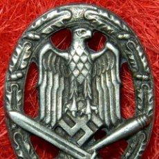 Militaria: HEER ASALTO GENERAL. ALLGEMENIES STURMABZEICHEN. CATEGORIA PLATA. MEDIDAS: 55 X 43 MM. Lote 80282053