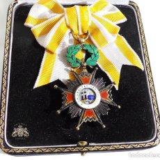 Militaria: ORDEN DE ISABEL LA CATÓLICA EXCELENTE CALIDAD CAJA ORIGINAL CEJALVO AÑOS 45-50. Lote 80443037