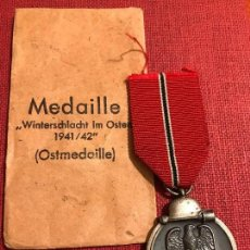 Militaria: MEDALLA DEL PRIMER INVIERNO EN RUSIA WINTERSCHLACHT IM OSTEN 1941-1942, TERCER REICH, HITLER,NAZI. Lote 80880599