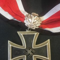 Militaria: CRUZ DE CABALLERO CON HOJAS DE ROBLE EICHENLAUB RITTERKREUZ REICH HITLER FUHRER NSDAP NAZI. Lote 81233800