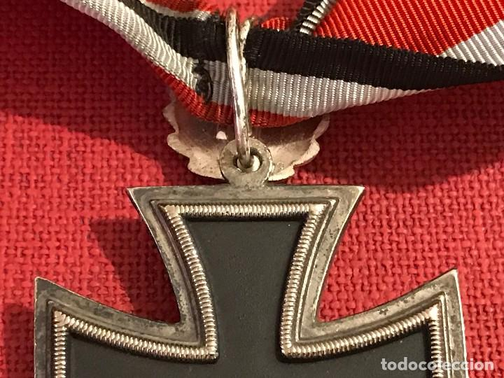 Militaria: Cruz de Caballero con hojas de roble eichenlaub ritterkreuz Reich Hitler Fuhrer NSDAP nazi - Foto 7 - 82347888