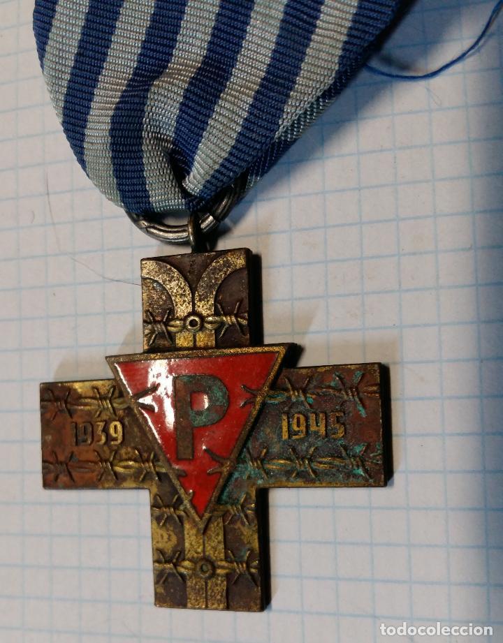 Militaria: Medalla cruz de prisionero de campo de concentración, Polonia - Foto 2 - 38663359