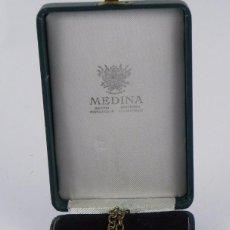 Militaria: MEDALLA ESMALTADA ORDEN DE LA MERCED, CON SU ESTUCHE ORIGINAL DE LA JOYERIA MEDINA, MADRID, MIDE 9'5. Lote 84022159